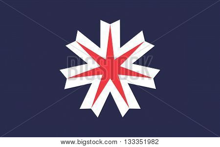 Flag of Hokkaido formerly known as Ezo Yezo Yeso or Yesso is the second largest island of Japan 3D rendering