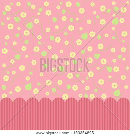 Pink abstract floral background. Greeting card. Vector image.