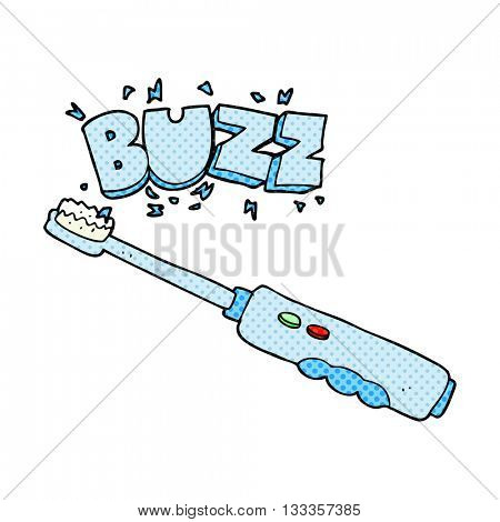 freehand drawn cartoon buzzing electric toothbrush
