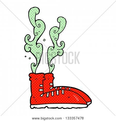 freehand drawn cartoon smelly sneakers