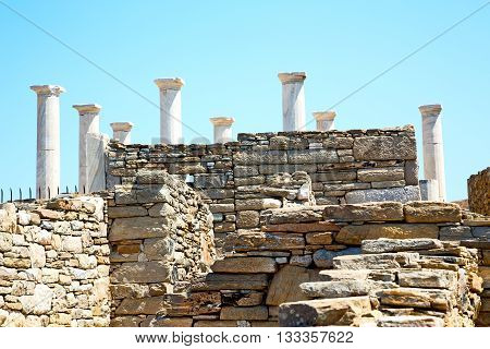 Archeology  In Delos Greece   Historycal  And Old Ruin Site