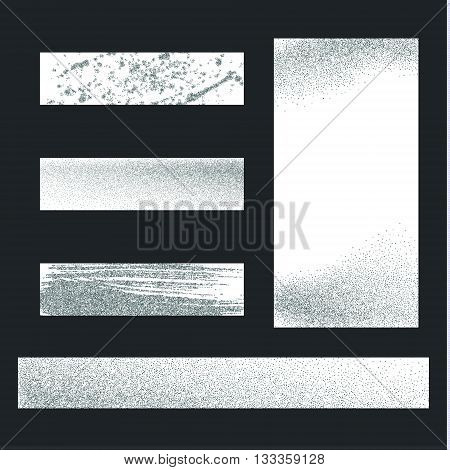 Silver dust on white background. Silver glitter background. Silver shiny background for banners.