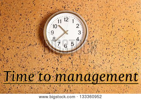 Clock on wall background