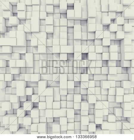 White cubical abstract background. 3d illustration resolution