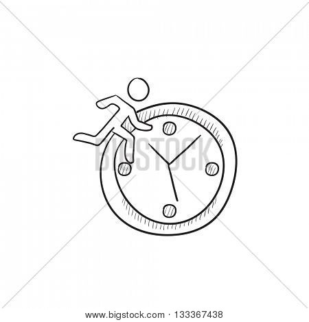 Time management vector sketch icon isolated on background. Hand drawn Time management icon. Time management sketch icon for infographic, website or app.
