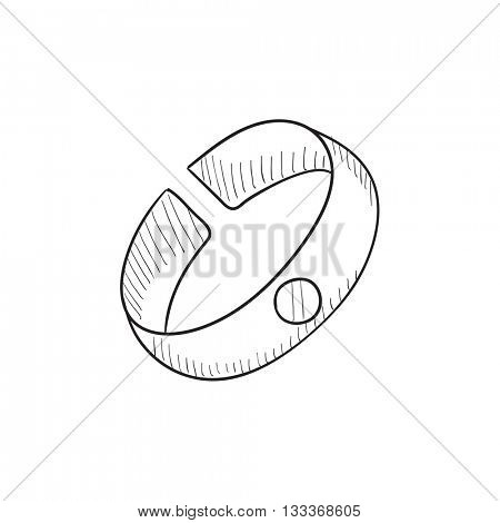 Bracelet sketch icon for web, mobile and infographics. Hand drawn Bracelet icon. Bracelet vector icon. Bracelet icon isolated on white background.