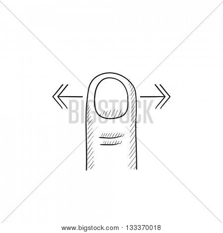 Scroll touch screen gesture vector sketch icon isolated on background. Hand drawn Scroll touch screen gesture icon. Scroll touch screen gesture sketch icon for infographic, website or app.