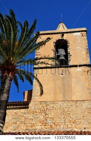 Grimaud France - april 16 2016 : the saint Michel church