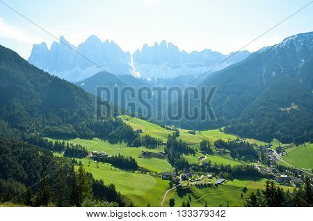 Santa Maddalena in the Morning, Autumn, South Tyrol (Italy)