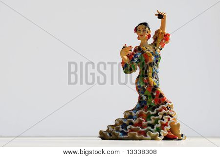 Colorful Flamenco Dancer With Castanets
