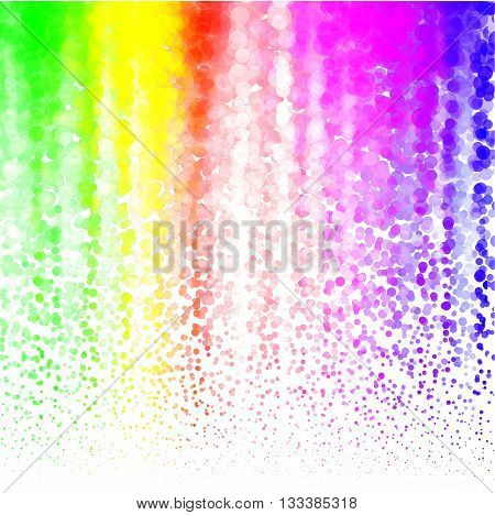Halftone Colorful lilac Lights Falling Dots pattern on white background, Vector illustration.