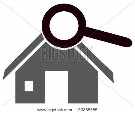 symbol house computer icon searching residential building examining