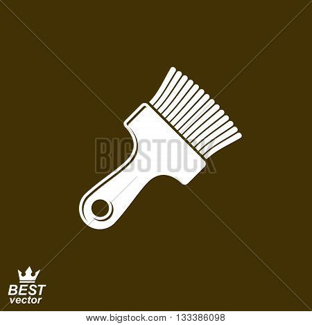 Stylized vector simple paint brush for whitewash. Industry tool.