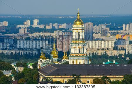 Kiev Pechersk Lavra Day View