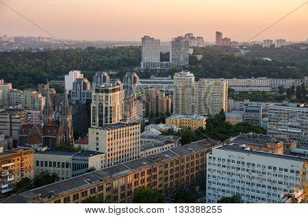 Sunset Panorama Kiev, Ukraine