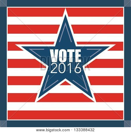 Voting concept. Bulletin with American flag. Abstract illustration