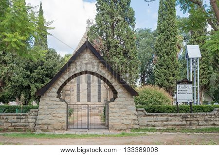 CRADOCK SOUTH AFRICA - FEBRUARY 19 2016: The St. Peters Anglican Church in Cradock a medium sized town in the Eastern Cape Province