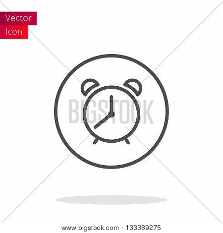 Alarm Clock Thin Line Icon. Alarm Clock Button