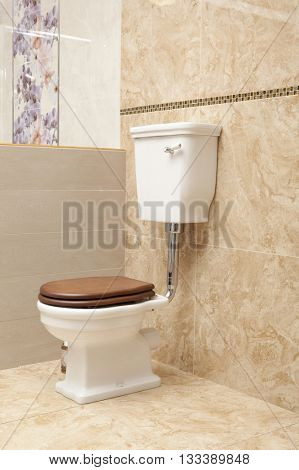 Stylish designed toilet in luxury modern house