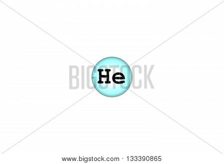 Helium is a chemical element with atomic number 2. It is a colorless odorless tasteless non-toxic inert monatomic gas that heads the noble gas group in the periodic table. 3d illustration