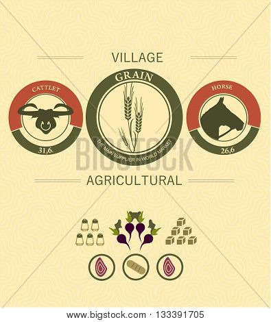 vintage infographics of agriculture and farming with Pets