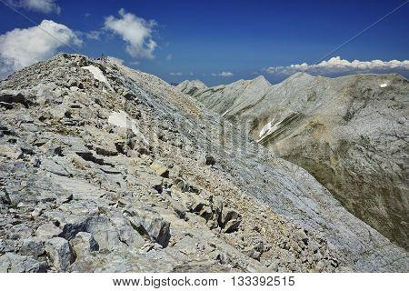 Panoramic view of Vihren and Kutelo peak, Pirin Mountain, Bulgaria