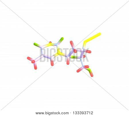 Zidovudine or azidothymidine is a nucleoside analog reverse-transcriptase inhibitor a type of antiretroviral drug used for the treatment of HIV-AIDS infection. 3d illustration