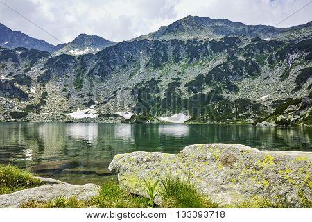 Amazing Landscape of Banderishki Chukar Peak and The Fish Lake, Pirin Mountain, Bulgaria