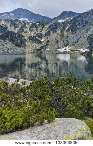 Amazing view of Banderishki Chukar Peak and The Fish Lake, Pirin Mountain, Bulgaria