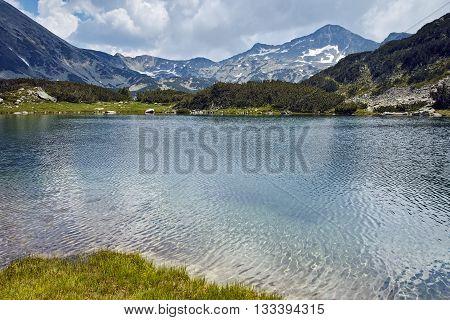 Banderishki chukar peak and Reflection in Muratovo lake, Pirin Mountain, Bulgaria