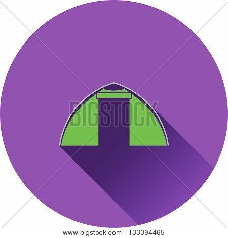 Icon Of Touristic Tent