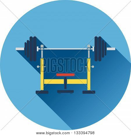 Icon Of Bench With Barbell