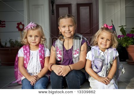 Cute Kids Ready for School