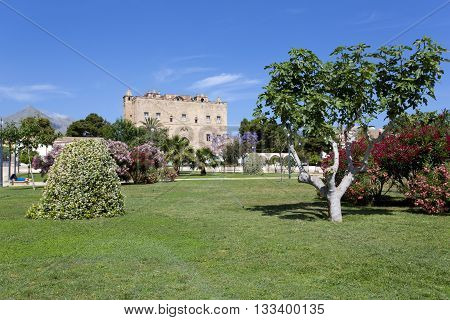 The Zisa Castle In Palermo, Sicily. Italy