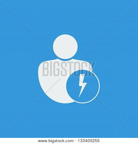 User Flash Icon In Vector Format. Premium Quality User Flash Symbol. Web Graphic User Flash Sign On