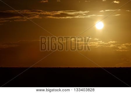 Golden Sunset - Addo Landscape