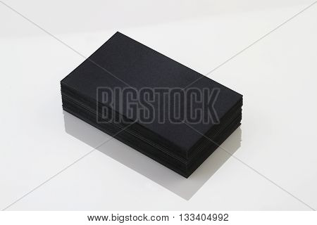 Blank Handmade Paper Business Card Stock Photo