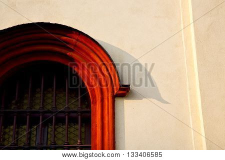 Rose Window  Italy  Lombardy     In  The Barza     Abstract