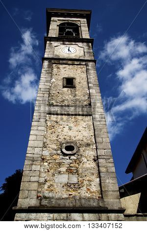 Sumirago Old   The   Wall  And Church Tower Bell Sunny Day