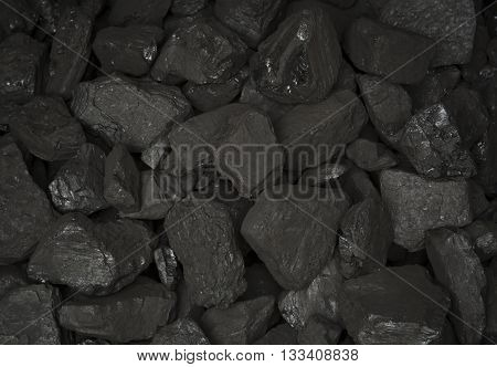 Big heap of coal for the furnace. Coals background.