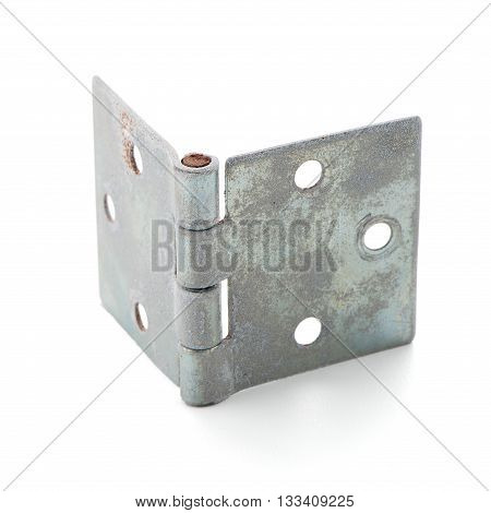 Single door hinge isolated on white background.