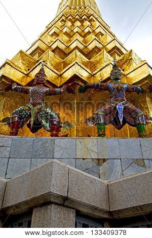 Asia  Thailand  In   Colors Roof Wat  Palaces   Sky      Mosaic