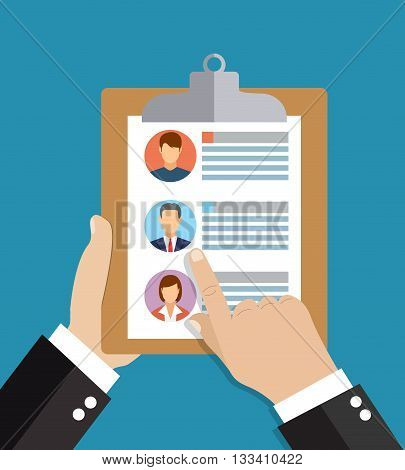 Human resources, employment, team management flat illustration concepts. Modern flat design concepts for web banners, web sites, printed materials, infographics. Creative vector illustration