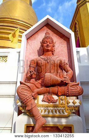 Siddharta   In The Temple Bangkok Asia   Thailand Drum