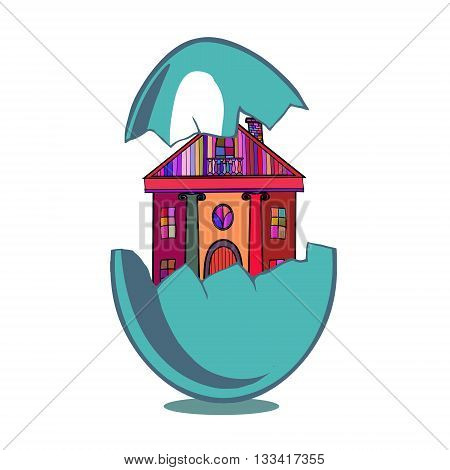 Vector illustration with Easter motif. Funny original creative vector illustration for web design and Polygraphy