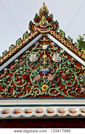 Bangkok In The Temple  Thailand Abstract Flowers