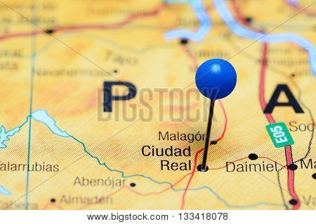 Ciudad Real pinned on a map of Spain