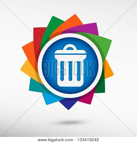 Trash Can Color Icon