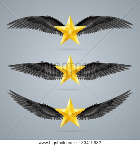 Gold rock stars soars on the wings of music on the waves