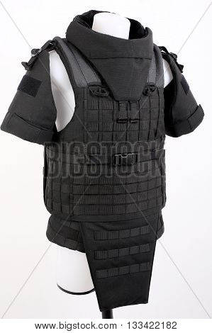 Bulletproof vest body armor covers Camouflage black